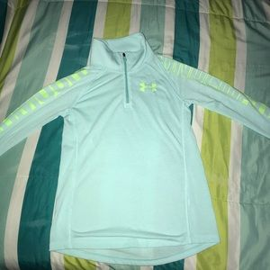 Half Zip Under Armour mint green sweater.